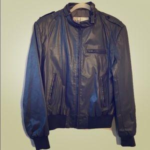 80s Vintage Wilson's Leather Moto Bomber Jacket